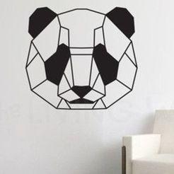 56d5cf4d0da89041b8bd31b4e9789286--geometric-bear-animal-decor.jpg Download STL file PANDA WALL SCULPTURE 2D • 3D print design, DajouxTom