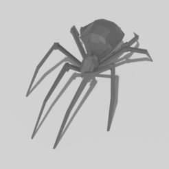 Download STL file Low Poly Spider, jodelida2