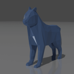 Download 3D model Low Poly Dog Simple, jodelida2