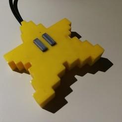 Download free STL file Super Mario Pixel Star - button • 3D printable design, vsky279