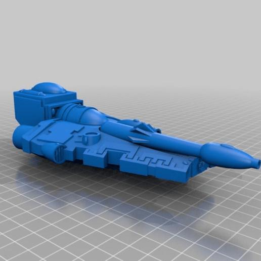 Télécharger STL gratuit Eldar Falcon Grav Tank Original, MKojiro