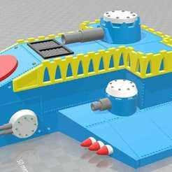 Télécharger fichier imprimante 3D gratuit Thunderhawk Gunship 40k Scale (Original Epic), MKojiro