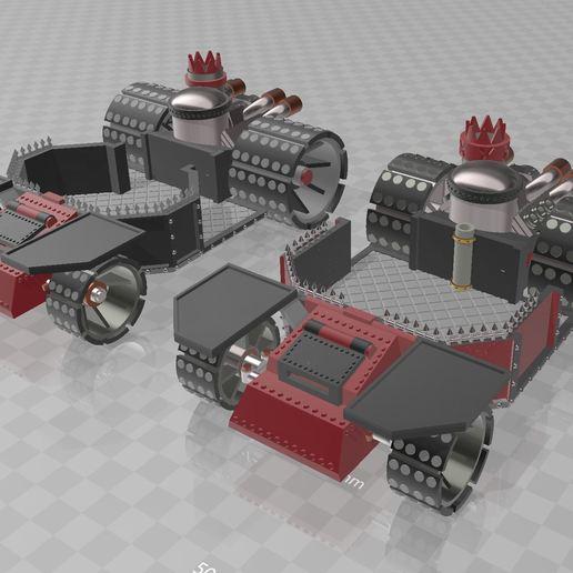 Télécharger fichier imprimante 3D gratuit Chariot de combat, MKojiro