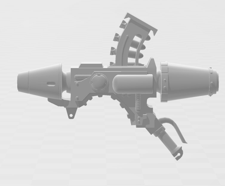 Annotation 2020-06-06 105235.jpg Download STL file Rogue Trader Era Missile Launcher • 3D printer object, MKojiro
