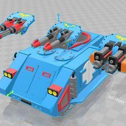 Raz_Laz.JPG Download free STL file Razorback parts for Rogue Trader Rhino (SC Edition) • 3D print object, MKojiro