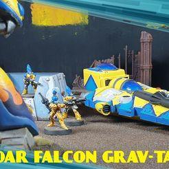 122232694_864754637393038_4563445081874719931_n.jpg Download free STL file Eldar Falcon Grav Tank Original • 3D print template, MKojiro