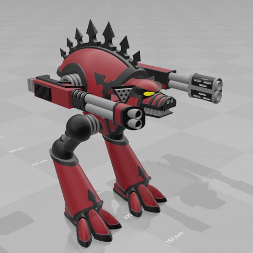 Télécharger fichier 3D gratuit Chien de Guerre Titan, MKojiro