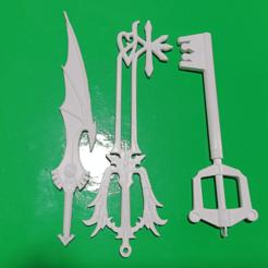 Cap1.png Download STL file Key Blade Kingdom Hearts sword key • 3D print design, alexcanot9626