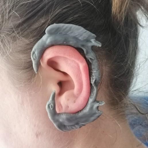 Download free 3D model Viking Crows earwrap, Mutant_Turkey