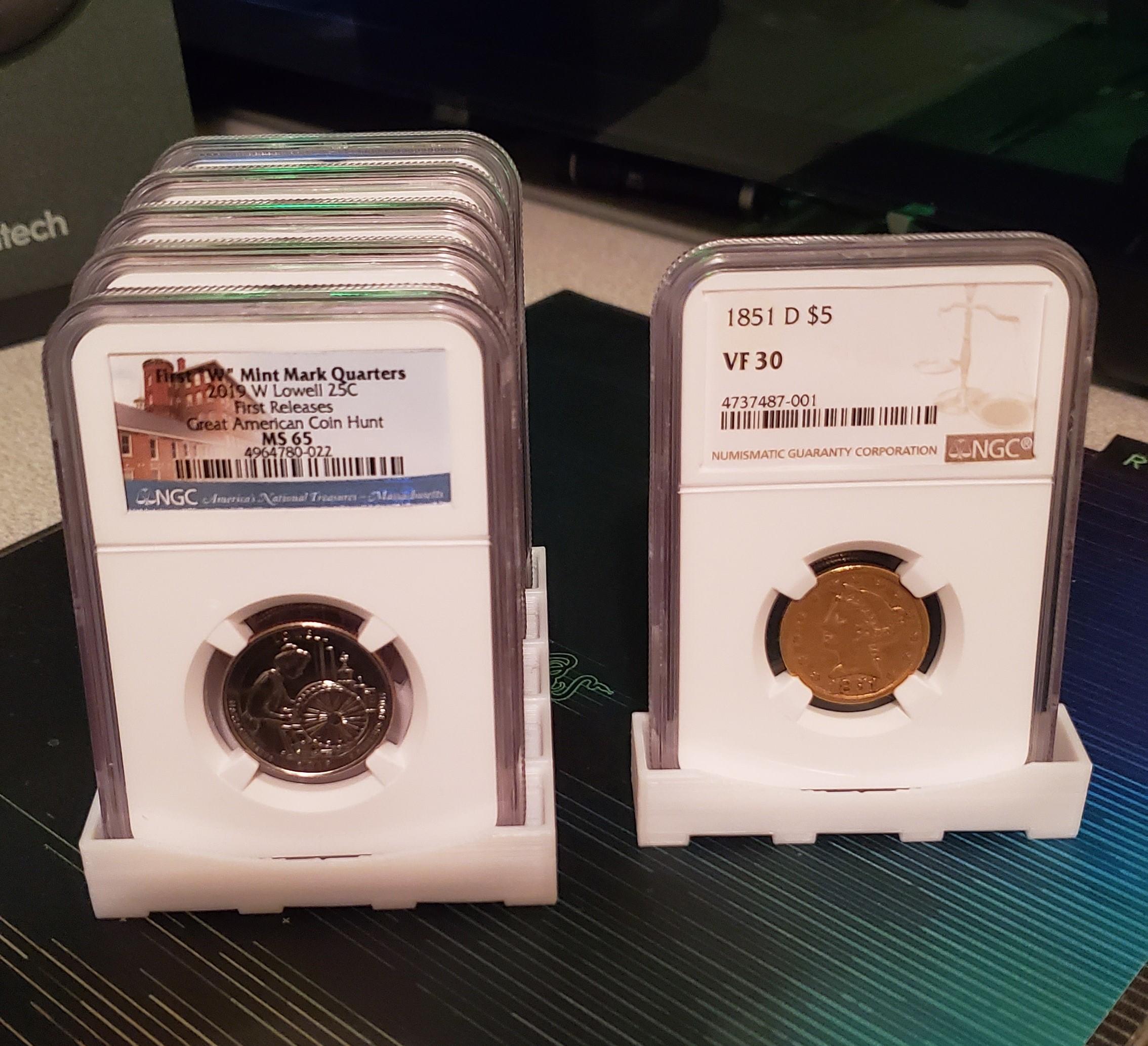 coin-slab-holder-1.jpg Download free OBJ file Coin Slab Holder • Design to 3D print, koga73