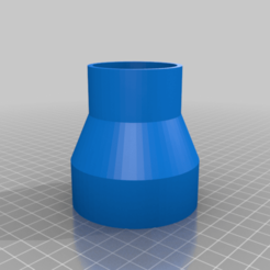 "Download free 3D printer templates Coupler 2.5"" to 1.75"" inches, koga73"