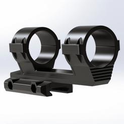 Render2S.png Download free STL file 30mm Scope Mount v.2 • Model to 3D print, MiddletonMade
