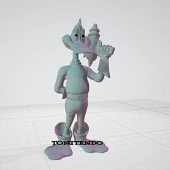 "DDUCK.jpg Download 3MF file Daffy Duck As"" DUCK DODGERS "" FanArt • 3D printable design, tonitendo"
