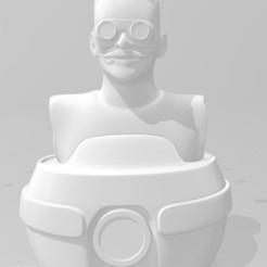 eggman.jpg Download free STL file EGGMAN (DR Robotnik) Bust • 3D printing template, tonitendo