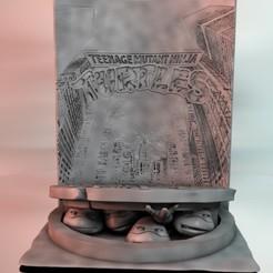1.jpg Télécharger fichier STL Diorama Tortues Ninja • Modèle à imprimer en 3D, tonitendo