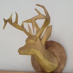 Descargar diseños 3D gratis DEER 3D LOW POLY , santi182