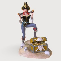 141.61.jpg Download OBJ file pirate girl Miss Fortune • 3D printing model, jexes20092