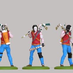 untitled.93.jpg Télécharger fichier STL héros des tortues ninja Casey Jones modèle d'impression 3D • Design pour imprimante 3D, jexes20092
