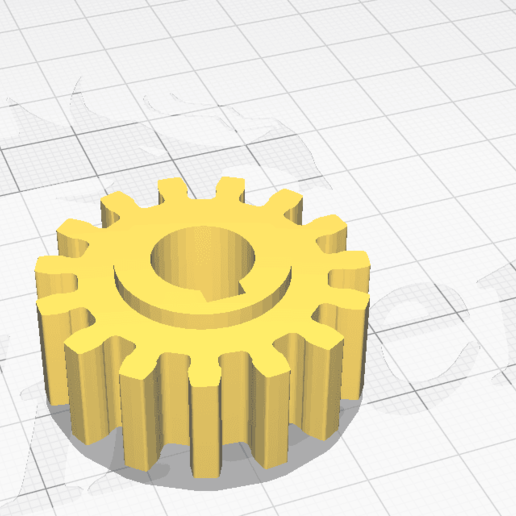 Download free STL Small gear  for axle with D=10.5 mm (modul = 2mm), Tasos