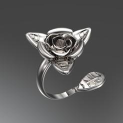 Download STL files Ring rose 3D print model 3D print model, SantoGrialJoyeros