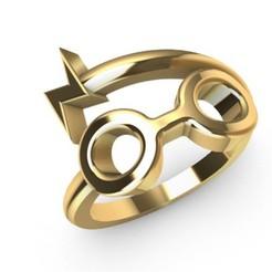 Télécharger fichier impression 3D Modèle d'impression 3D de l'anneau Harry Potter, SantoGrialJoyeros