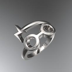 Download 3D printer designs Harry Potter Ring 3D print model, SantoGrialJoyeros