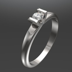 Descargar archivos STL Engagement ring Glamor 3D Print model, SantoGrialJoyeros