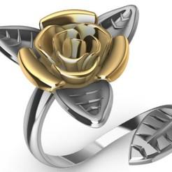 Télécharger fichier STL Modèle d'impression 3D de la rose à anneaux Modèle d'impression 3D, SantoGrialJoyeros