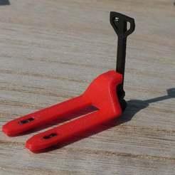 Transpalette_6.JPG Download free STL file 1/43 Pallet Jack - Transpalette • 3D print template, MrJoce