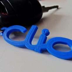 Clio_Keyring.JPG Download free STL file Renault Clio Keyring • 3D print object, MrJoce