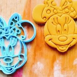 Télécharger fichier impression 3D biscuit à l'emporte-pièce minni Disney mickey, 3dstafe