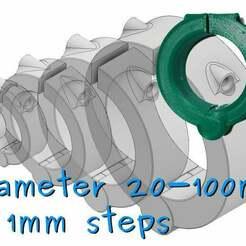 drawing.jpg Télécharger fichier STL gratuit Assortiment de pinces à charnière imprimées [20-100mm] • Modèle imprimable en 3D, akimakes