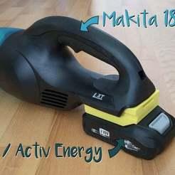 hauptbild.jpg Download free STL file Makita - Activ Energy (Ferrex) 18v battery adapter • 3D printable template, akimakes