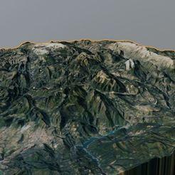 Rendered.JPG Télécharger fichier OBJ gratuit Carte 3D du Cadí avec le pedraforca de Catalogne • Design pour imprimante 3D, martifaig