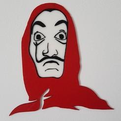 20200411_174427.jpg Télécharger fichier STL Masque / Mask dali : La casa de papel - Sculpture 2D • Design pour imprimante 3D, Stendy