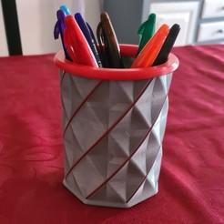 Download 3D printer templates Filament pencil pot / Filament pencil pot, Stendy