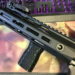 Stubby VFG on AR03SD.jpg Download STL file MLOK Stubby VFG • 3D printer template, Armed_Amazon