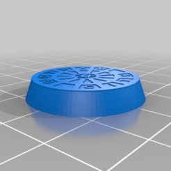 Download free 3D model 25mm round Gotham base, MrKrisSatan