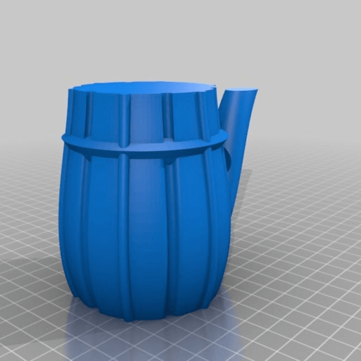 Download free 3D printing designs Water pitcher 8oz., skiidlive