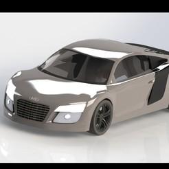 Download 3D printing models Audi R8 model for print, dinokadicofficial