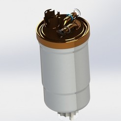 Download STL file Oil Fuel filter for Audi, Volkswagen, BMW, Mercedes, dinokadicofficial