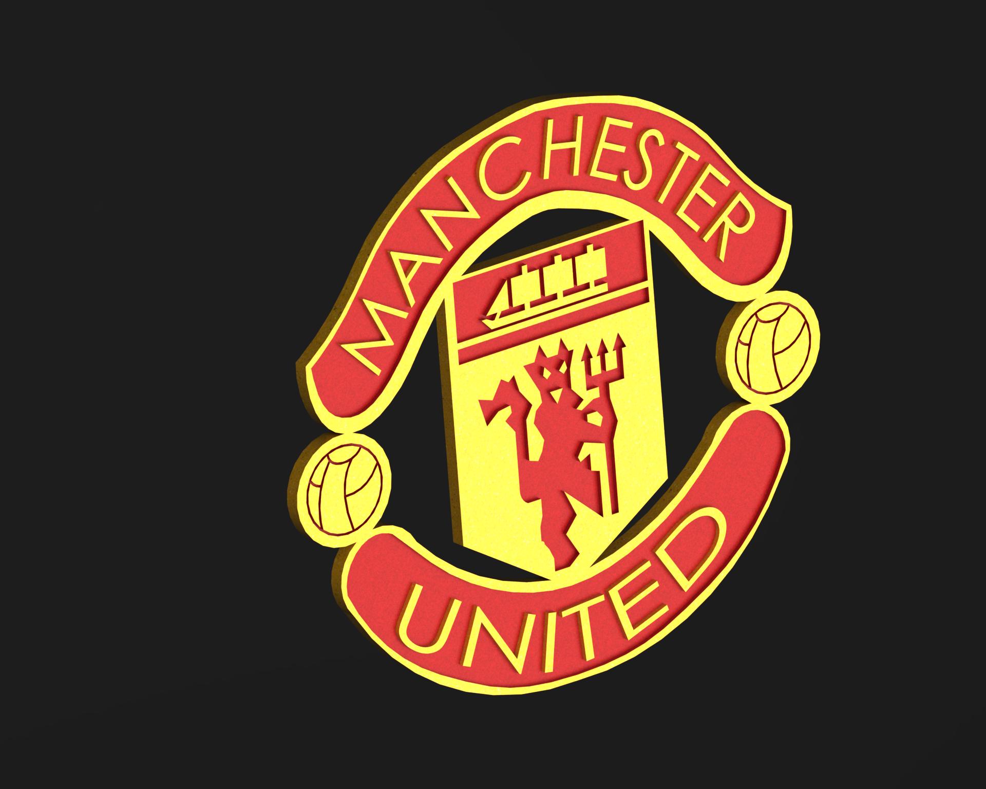 Download Stl File Manchester United Logo 3d Printable Design Cults