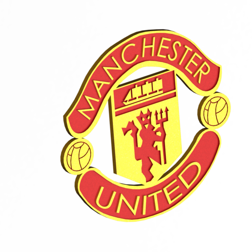 download stl file manchester united logo 3d printable design cults manchester united logo