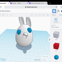 Imprimir en 3D gratis Lapin fou, Simonpaul