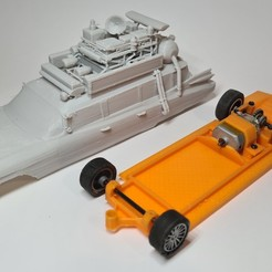 20200923_170139.jpg Télécharger fichier STL Miller Meteor - ECTO-1 1959 Ghostbusters Slot Car Chassis 3D Printable • Plan imprimable en 3D, SlotRacer