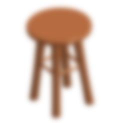 Télécharger fichier STL gratuit Petit tabouret / Banquito • Objet imprimable en 3D, naahuel