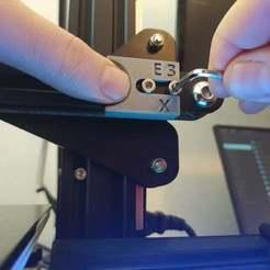 Descargar diseños 3D gratis Ender 3 Cinturón (X & Y) Tensor Asistente Jig, naahuel