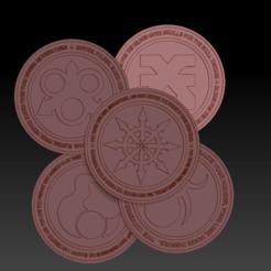 preview.png Download free STL file ASSEMBLED COINS PACK 2 • Design to 3D print, virusesofdeath