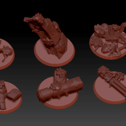 Preview.png Download free STL file Necron Custom Objective Markers • 3D printing template, virusesofdeath