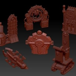 Download free STL file Battlezone Objective Set • 3D print object, virusesofdeath